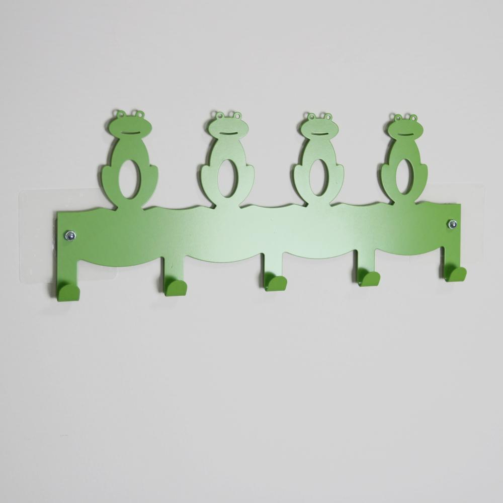 Wisdom (SKY HOOK 系列)無痕鎖壁掛鉤-青蛙造型5鉤