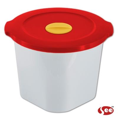 Breere 會呼吸的保鮮盒1050ml圓形款(4色)