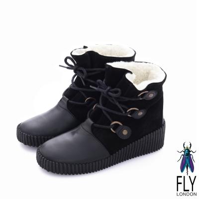 Fly-London-女-黛西寶貝-鋪棉雙料綁帶牛