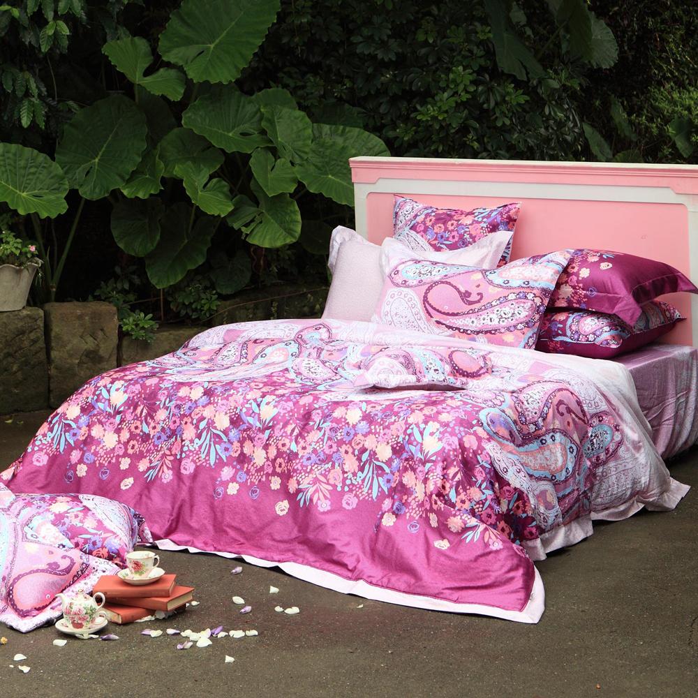 法國Casa Belle《蝶舞神韻》加大四件式長絨棉兩用被床包組
