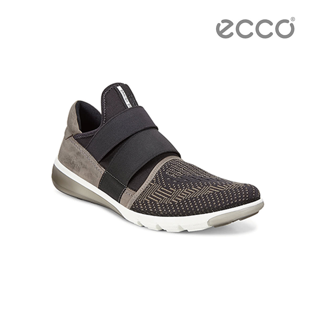 ECCO INTRINSIC 2 3D立體針織套入式休閒鞋-墨綠