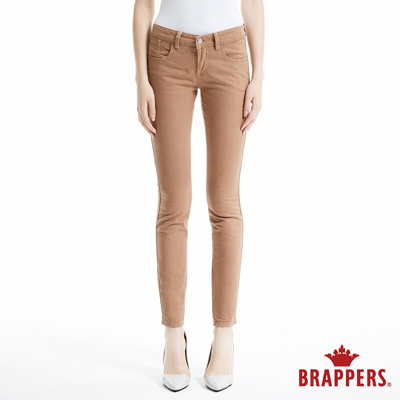 BRAPPERS 女款 LC Cargo系列-中低腰彈性窄管褲-深咖啡
