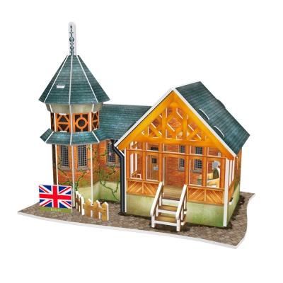 世界之窗 3D立體拼圖 《英國》英式典雅別墅 3D World Style