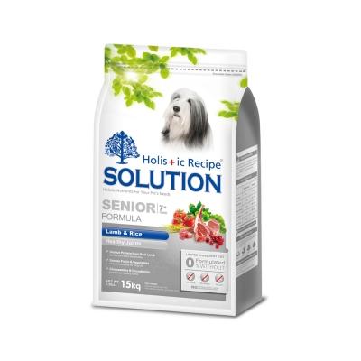 耐吉斯SOLUTION  高齡犬 關節保健配方 羊肉&田園蔬菜 15公斤 x 1包