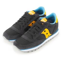(女)美國 SAUCONY 經典時尚休閒輕量慢跑球鞋-灰黃