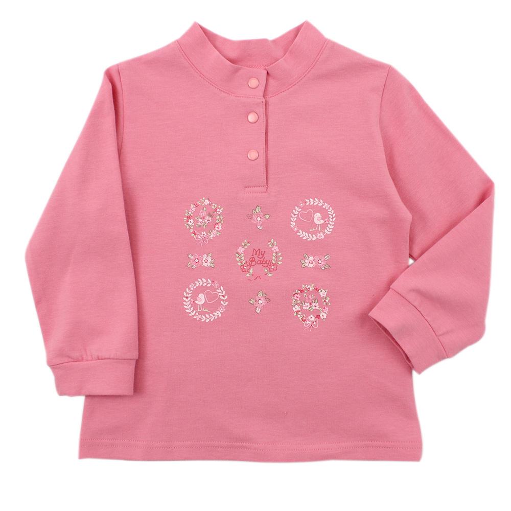 愛的世界 MYBABY 彈性立領束袖長袖上衣/6~10歲