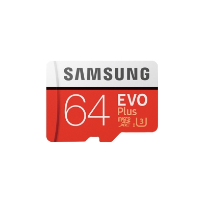 SAMSUNG三星 64GB EVO Plus microSDXC 記憶卡