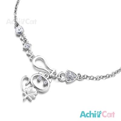 AchiCat 腳鍊 可愛貓咪 銀色