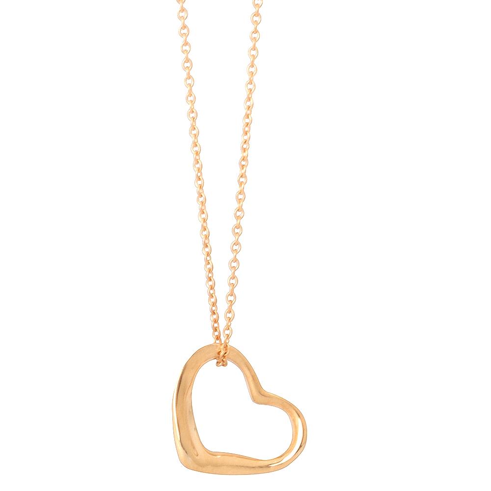 TIFFANY&Co.NEW Open Heart系列18K愛心吊墜項鍊新-金