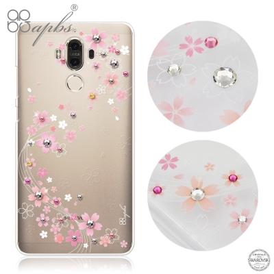 apbs Huawei Mate9 施華洛世奇彩鑽手機殼-天籟之櫻