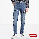 牛仔褲 男裝 510 中腰緊身窄管 彈性纖維 破壞補丁 - Levis