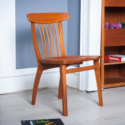 杰諾家居-坎帕尼亞曲背柚木實木餐椅-50x48x80cm