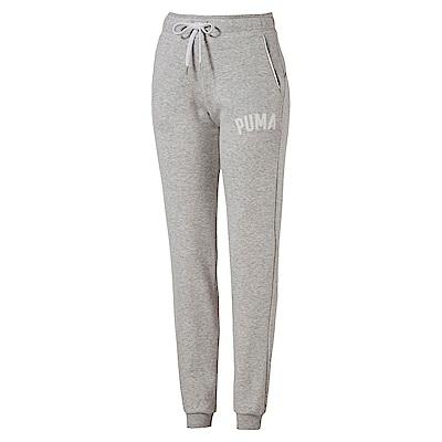 PUMA-女性基本系列ATHLETIC長褲-淺麻花灰-亞規