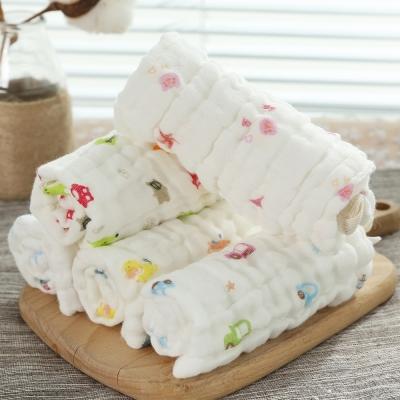 嬰兒紗布巾 全棉圍兜六層30*30口水巾隨機4入