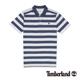 Timberland 男款藍白色粗條紋刺繡短