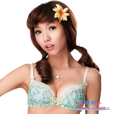 嬪婷-花漾女孩D罩杯內衣-花漾綠