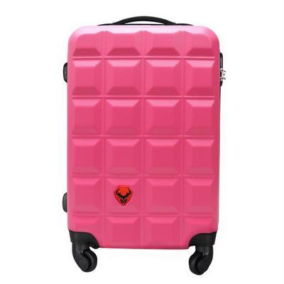 福利品限量優惠 24吋巧克力磚輕硬殼ABS行李 粉紅色