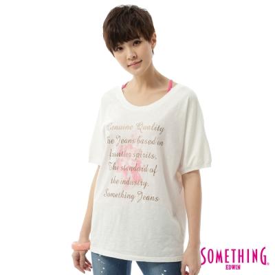 SOMETHING-浪漫飄逸休閒T恤-女-白色