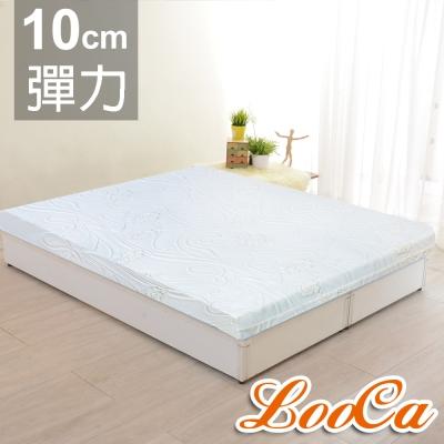 LooCa 溫感塑型彈力平面10cm緹花記憶床墊-雙人5尺