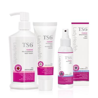 TS6護一生 果萃嫩白組(果萃晶露250g+嫩白化妝水100g+超美白香氛誘霜120g)