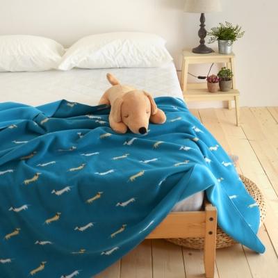 絲薇諾 藍色帕比狗狗-雙面雲毯/毛毯-180×210cm