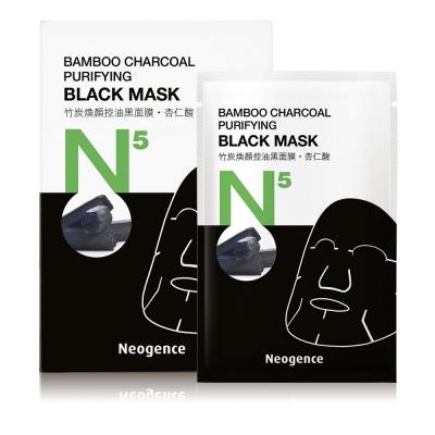 Neogence霓淨思 N5竹炭煥顏控油黑面膜6片/盒