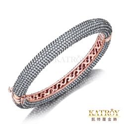 KATROY 925純銀手環鍍玫瑰金滿鑽爪鑲-共7色