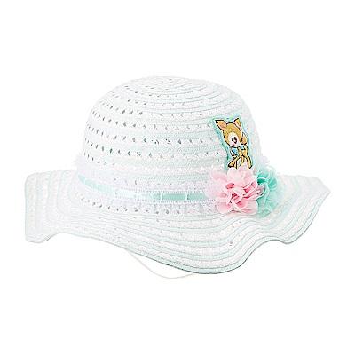 Sanrio 哈妮鹿女童用編織遮陽帽(雪紡小花)