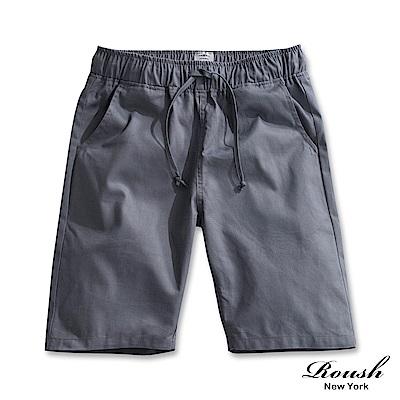 Roush 基本款抽繩斜紋水洗短褲(7色)