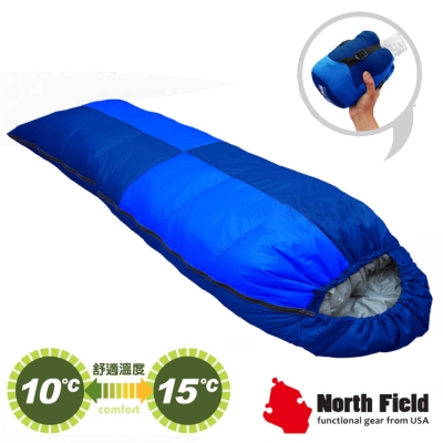 【美國 North Field】杜邦Tactel 頂級白羽絨睡袋300g_岩藍