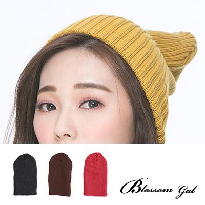 Blossom-Gal-時尚街頭感原色素面彈性針織