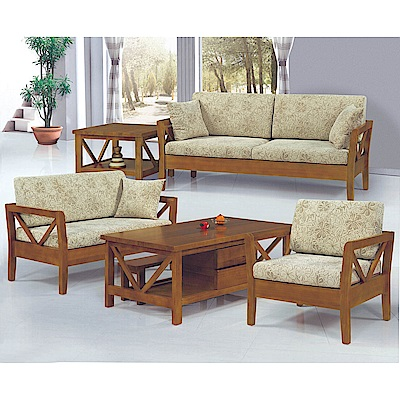 H&D 樟木色實木板椅組 (寬381X深74X高67cm)