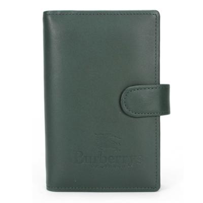 BURBERRY年度限量戰馬LOGO皮革手帳冊-墨綠色