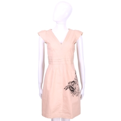 ANNA MOLINARI 粉色蝴蝶女孩V領短袖洋裝