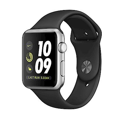 【福利品】Apple Watch Series 2 42公釐鋁金屬錶殼搭黑色運動型錶帶