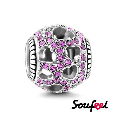SOUFEEL索菲爾 925純銀珠飾 心花怒放 串珠