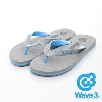 WAVE3【男】獨家設計素色刷毛人字夾腳拖~灰