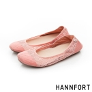 HANNFORT FLEX360果凍系網布娃娃鞋-女-嫩橘粉