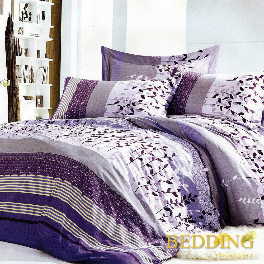 BEDDING  活性印染 雙人床包涼被組 葉葉生輝