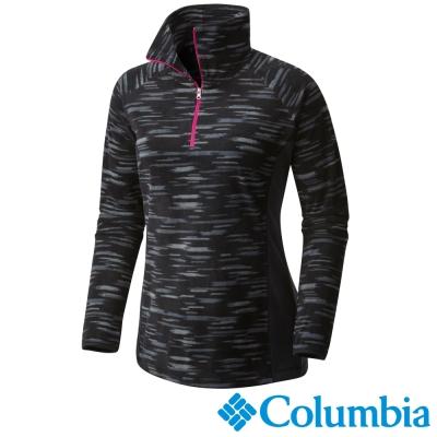 Columbia哥倫比亞  女款-保暖刷毛立領上衣-黑色 UAL64370BK