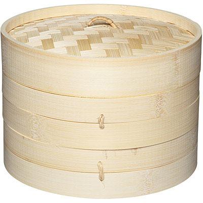KitchenCraft 雙層竹編蒸籠(20cm)
