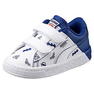 PUMA-JLBasketV PS孩童鞋-白藍色