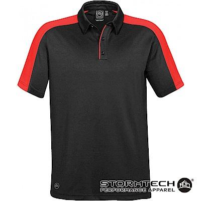 【加拿大STORMTECH】H2X-DRY抗勾紗拼色POLO衫-ENX-1男-黑紅