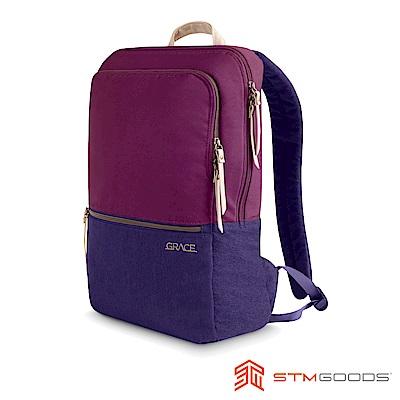 澳洲STM Grace Pack 15吋優雅時尚筆電後背包 - 深紅紫