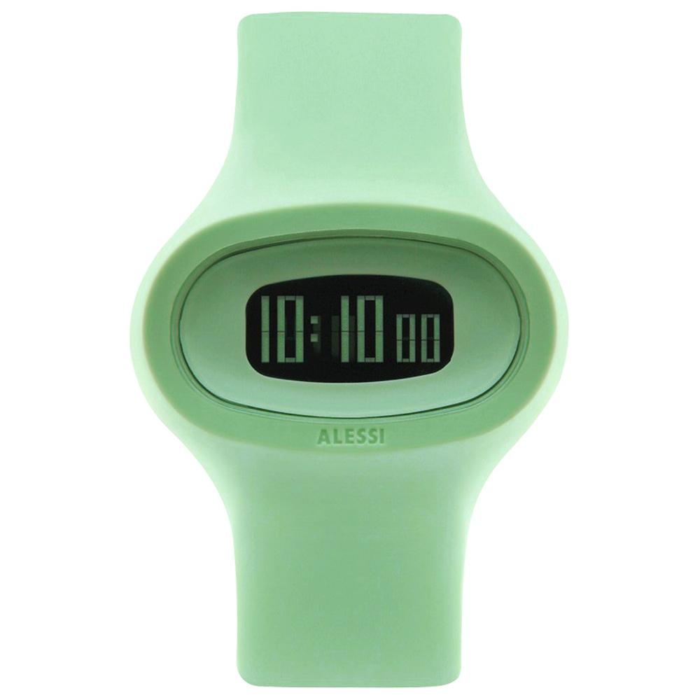 ALESSI 清晰潮流電子腕錶-綠