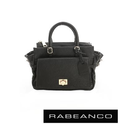 RABEANCO 簡約知性系列肩背手提包 - 黑