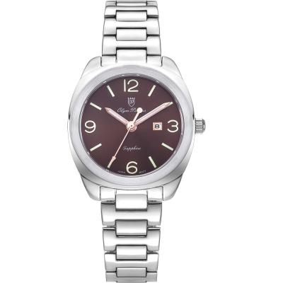 奧柏表 Olym Pianus 聚焦 石英腕錶-咖啡 33mm  5706LS