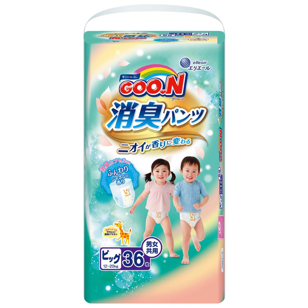 GOO.N日本大王境內版消臭香香褲褲型紙尿褲(XL)36片x3包/箱
