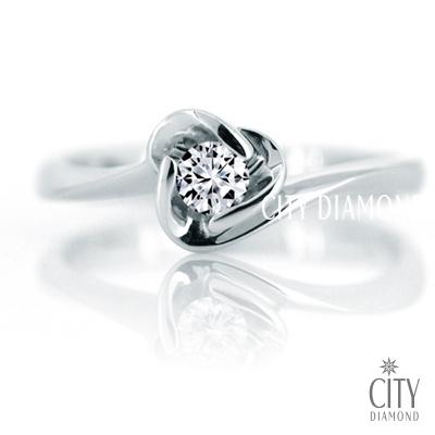 City Diamond『冰晶杏花』11分鑽戒
