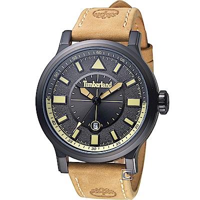 Timberland狙擊時刻時尚腕錶(TBL.15248JSB 61)-46mm/碳灰x棕